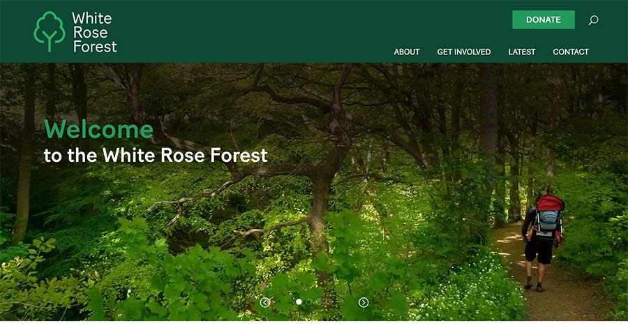 White rose forest website design